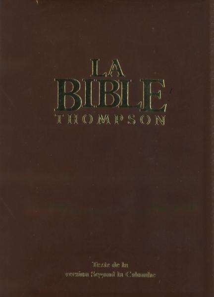 BIBLE ETUDE THOMPSON COLOMBE LUXE